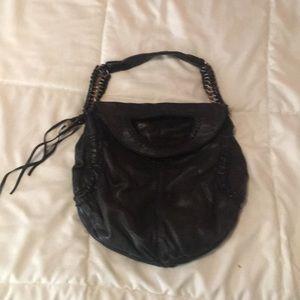 Black leather Lucky Brand purse